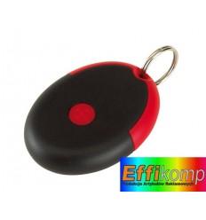 Brelok na klucze z prezerwatywą, FLIRT, czarny/czerwony.