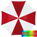 Parasol automatyczny, DISCO, czerwony/biały.