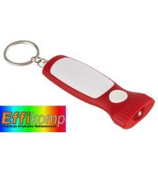 Brelok z diodą LED, MITHRAS, biały/czerwony.