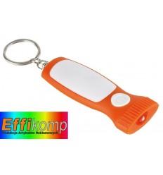 Brelok z diodą LED, MITHRAS, biały/pomarańczowy.