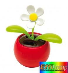 Kwiatek na baterię słoneczną, WAVER, czerowny.