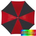 Parasol automatyczny, DISCO, czarny/czerwony.