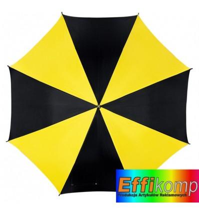 Parasol automatyczny, DISCO, czarny/żółty.