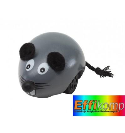 Drewniana mysz, NINI, szary.