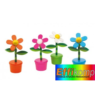 Kwiatek, FLOWER POWER, pomarańczowy/biały/ różowy/ niebieski.