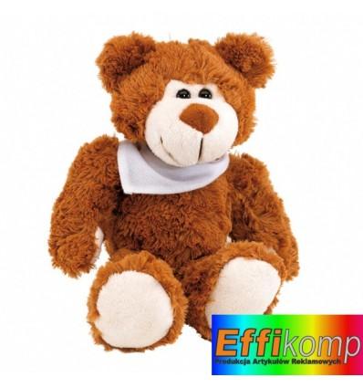 Maskotka pluszowa, TEDDY, brązowy/biały.
