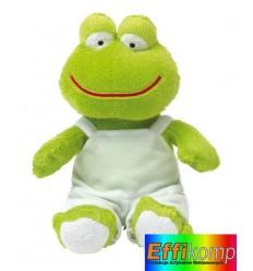 Żaba pluszowa, FRED, zielony/biały.