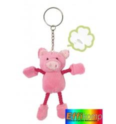 Brelok świnka, LUCKY, różowy.