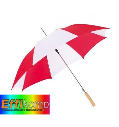 Parasol automatyczny, SALSA, czerwony/biały.