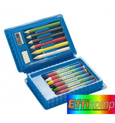 Zestaw szkolny, 14 części, ART, niebieski.