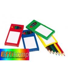 Zestaw kredek, 6szt, RAINBOW, czarny/zielony/czerwony/żółty.