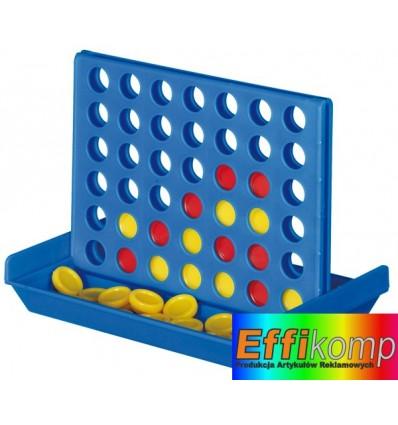 Gra podróżna, 4 IN A LINE, niebieski/czerwony/żółty.