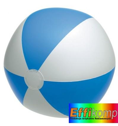 Piłka plażowa, ATLANTIC, biały/niebieski.