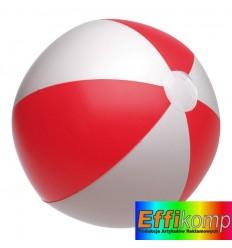 Piłka plażowa, ATLANTIC, biały/czerwony.