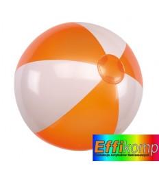 Piłka plażowa, ATLANTIC, biały/pomarańczowy.