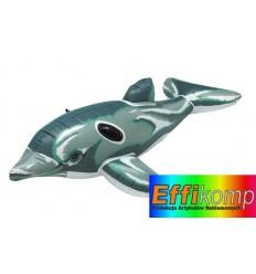 Nadmuchiwany delfin, ROXY, szary/biały.