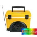 Izolacyjny pojemnik, COOL MUSIC, czarny/żółty.