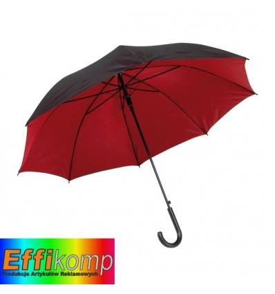 Parasol automatyczny, DOUBLY, czarny/czerwony.