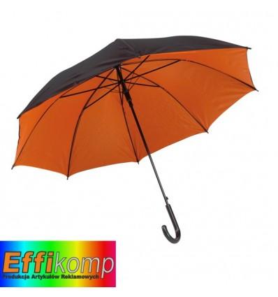 Parasol automatyczny, DOUBLY, czarny/pomarańczowy.