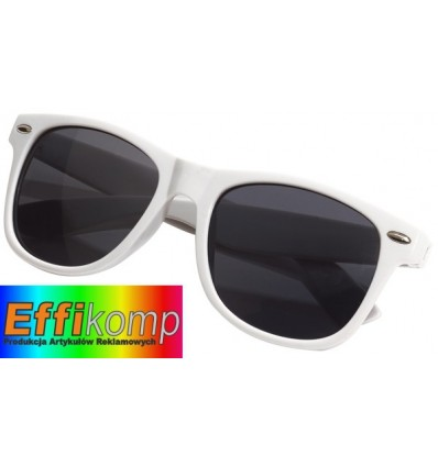 Okulary, TRENDY, biały.