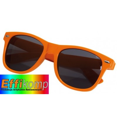Okulary, TRENDY, pomarańczowy.