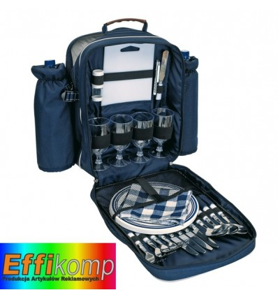 Plecak piknikowy, HYDE PARK, niebieski.
