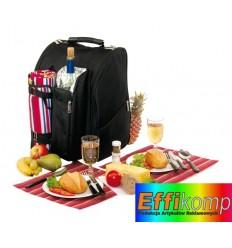 Plecak piknikowy, DIABOLO, czarny/czerwony.