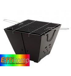 Składany grill, HAPPY DAY, czarny.