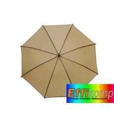Parasol automatyczny, WALTZ, beżowy/brązowy.