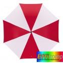Parasol, REGULAR, biały/czerwony.