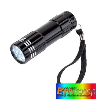 Latarka LED, POWERFUL, czarny.