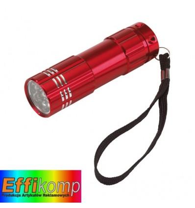 Latarka LED, POWERFUL, czerwony.