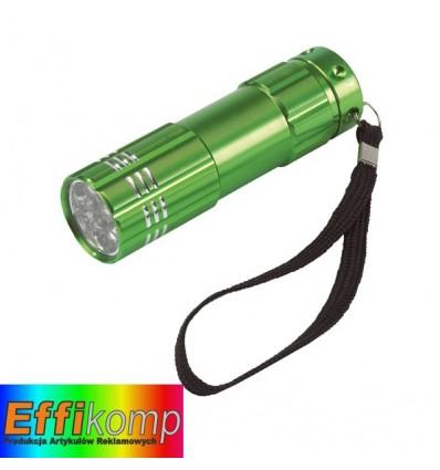 Latarka LED, POWERFUL, zielony.