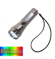 Latarka LED, SILVER LIGHT, srebrny.
