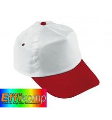Czapka baseballowa, ATHLETE, biały/czerwony.