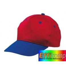 Czapka baseballowa dziecięca, CALIMERO, niebieski/czerwony.