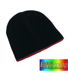 Dwustronna czapka, NORDIC, czarny/czerwony.