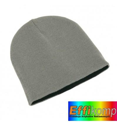 Dwustronna czapka, NORDIC, srebrny/czarny.