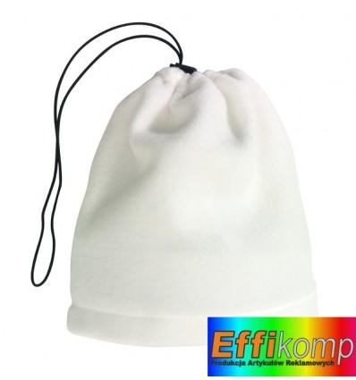 Polarowy szalik/czapka, VARIOUS, biały.
