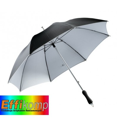 Parasol, JOKER, czarny/srebrny.