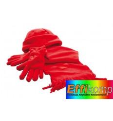 Zestaw z polaru, TRIPLE, czerwony.