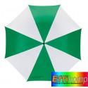 Parasol, REGULAR, biały/zielony.