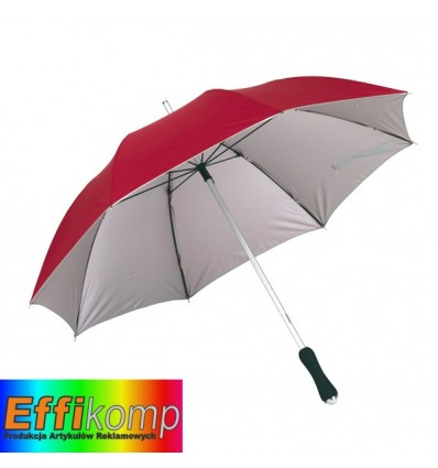 Parasol, JOKER, czerwony/srebrny.