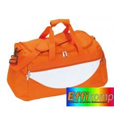 Torba na ramię, CHAMP, pomarańczowy/biały.