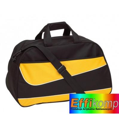 Torba sportowa, PEP, czarny/żółty.
