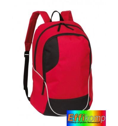 Plecak, CURVE, czerwony/czarny.
