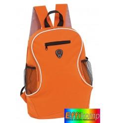 Plecak, TEC, czarny/pomarańczowy.