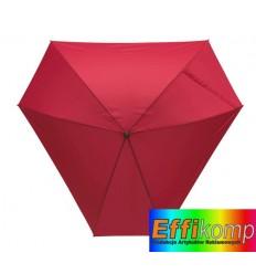 Parasol z włółkna szklanego, TRIANGLE, ciemnoczerwony.