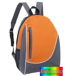 Plecak, POP, szary/pomarańczowy.
