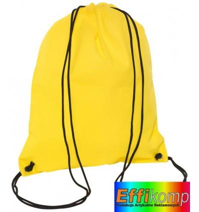 Plecak marynarski, DOWNTOWN, żółty.